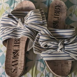 Sam & Libby retro now flats sandals 10 new